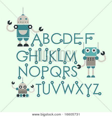 robot font set