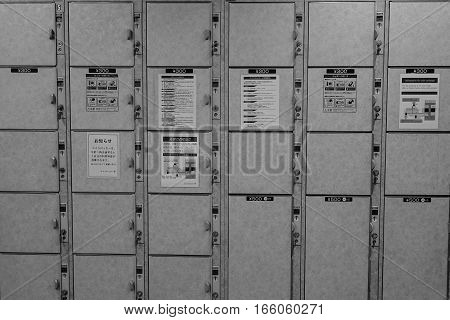Various Size Of Automatic Locker Rental In Japan