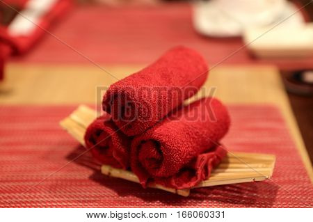 Red Roll Towels