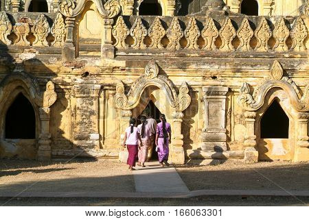 Temple of Maha Aungmye Bonzan monastery in Inwa Mandalay Myanmar