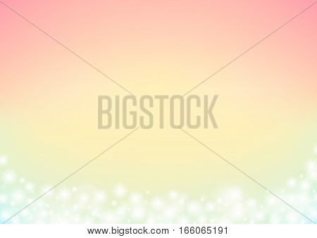 fairy tale sparkle abstract background, dreamy glitter sparking bokeh frame background, tender wedding background, vector illustration