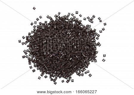 Plastic pellets. Colorant for plastics. Pigment in the granules.Polymeric dye.