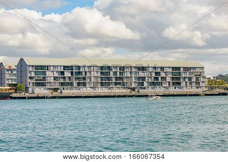 Sydney Warf Apartments at Pyrmont Bay in Sydney Harbour.