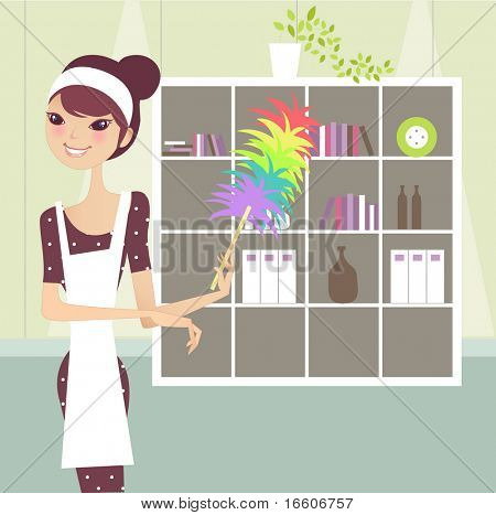 woman in domestic household role