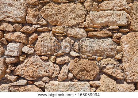 Rethymnon Island Crete Greece - June 23 2016:View on the stone wall of Fortezza Castle in Rethymnon