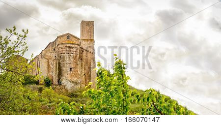 Tuscania San Pietro church Lazio Viterbo Italy