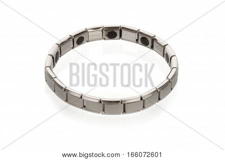 Tourmaline magnetic bracelet on a white background, isolate