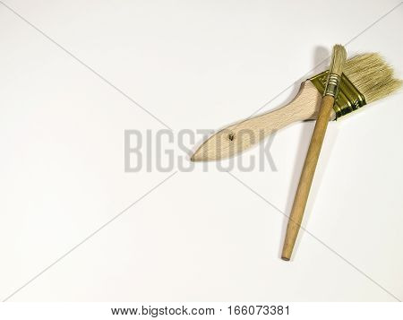 The paint brush isolated on a white background