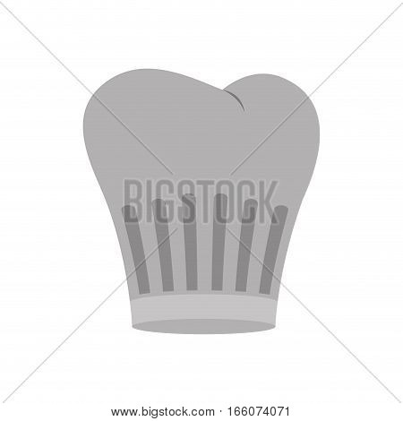 gray scale silhouette of chefs hat with lines vector illustration