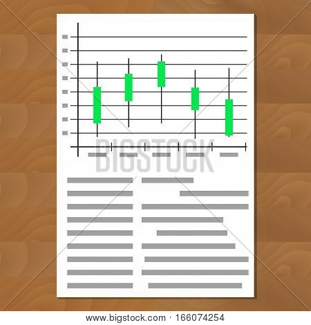 Exchange graph chart vector. Finance growth and investment progress document illustration
