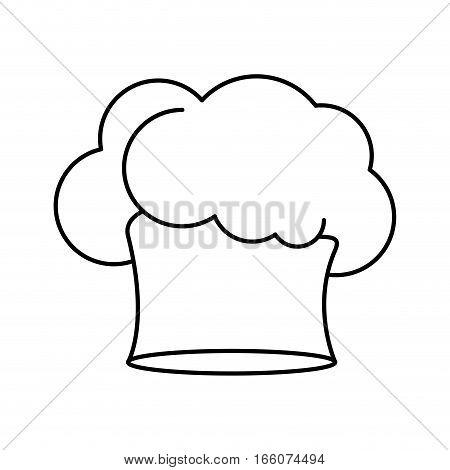contour of chefs hat in irregular shape vector illustration