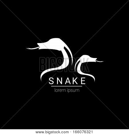 vector snake simple logo design element. danger snake icon. viper symbol