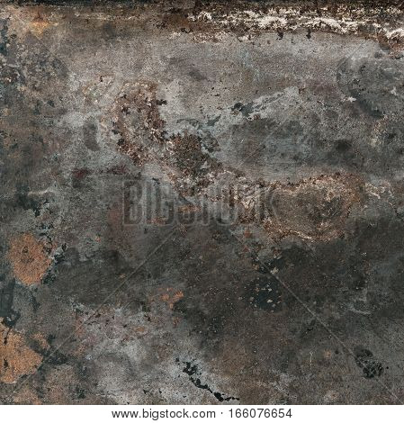 Vintage rusty textured metal background. Corroded structure surface