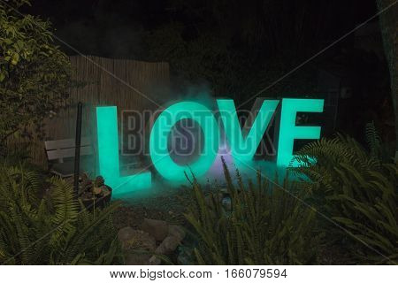 Decorative Letters Led Light Sign With The Word Love