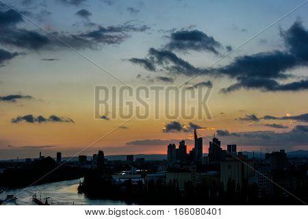 The skylight of the finance metropole Frankfurt am Main in Germany