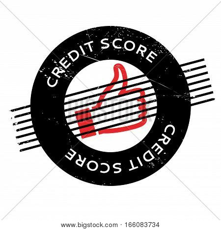 Credit Score rubber stamp. Grunge design with dust scratches. Effects can be easily removed for a clean, crisp look. Color is easily changed.