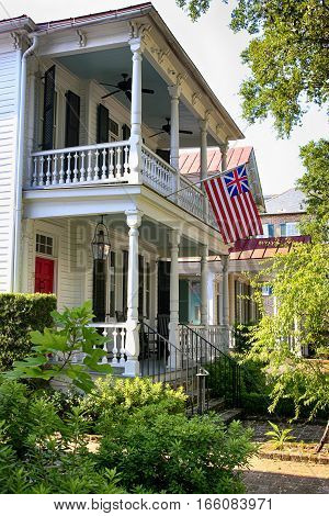 Charleston, SC, USA - September 9: House in the historic French quarter of Charleston SC