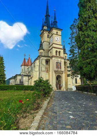 The most famous church of Nicolae Titulescu, in Brasov, town of Transylvania - Romania