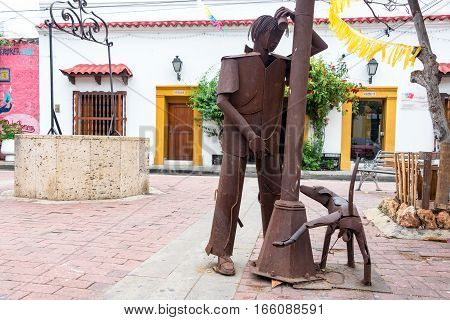Urinating Statues In Cartagena