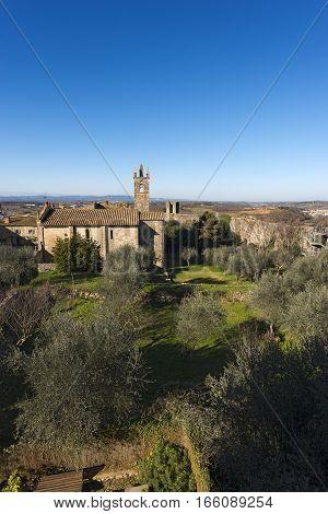The ancient medieval village of Monteriggioni. Siena Toscana (Tuscany) Italy Europe