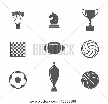 Sport. Abstract icons on white background. (EPS)
