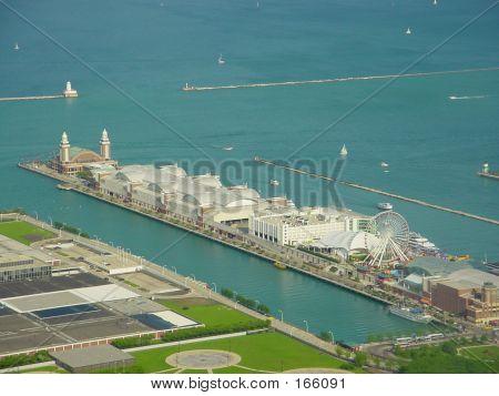 Aeriel View Of Chicago