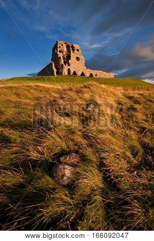 Auchindoun Castle, Dufftown, Moray, Scotland is a ruined 15th century tower fortress with historic connections to the Ogilvy and Gordon Clans, and the Jacobite Risings.