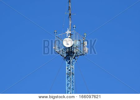 Mast Tower Relay Internet Signals And Telephone Signals