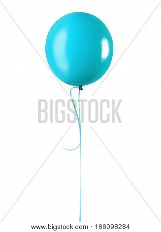 Blue balloon isolated on a white background