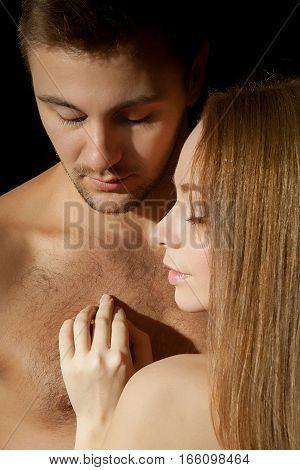 Beautiful Sexy Couple Portrait.