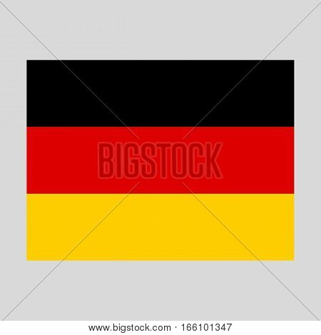 Official national flag of Germany background closeup vector