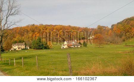 Vivid autumn colors in beautiful rural Pennsylvania