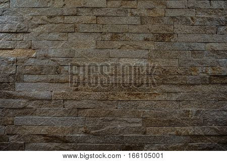 Rock Stone Brick Tile Wall Aged