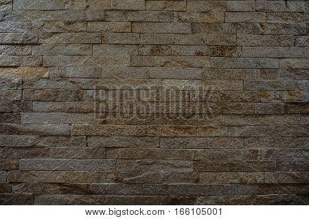 Rock Stone Brick Tile Wall Aged