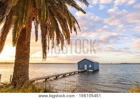 The Crawley Boat House on Perth's Swan River in Western Australia