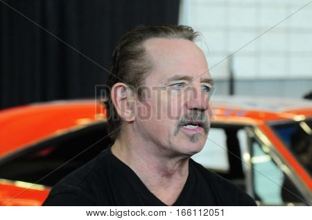 Tom Wopat (Luke Duke) of the hit series Dukes of Hazzard appears at the World of Wheels auto show to sign autographs and talk with fans