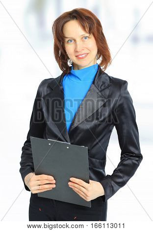 woman's lawyer with the documents.the photo has a empty space for your text