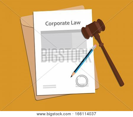 Legal concept of company law illustration vector