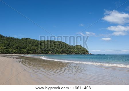 West facing beach landscape of Playa Conchal Guanacaste Costa Rica