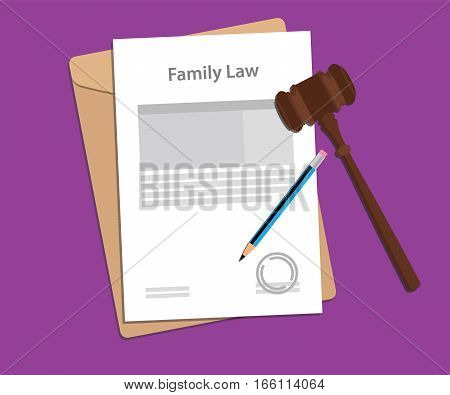 Legal concept of family law illustration vector