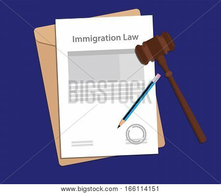 Legal concept of immigration law illustration vector