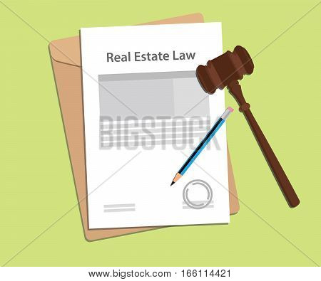 signing legal concept of real estate law illustration vector