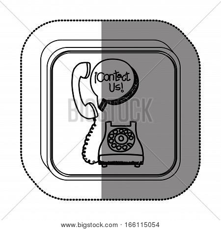 Contact us customer service icon vector illustration graphic design