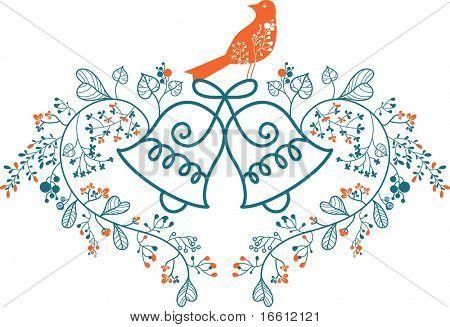floral wedding bell