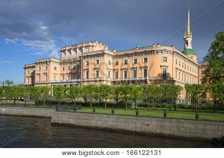 View on Engineer Castle from the Moika River. Saint-Petersburg, Russia