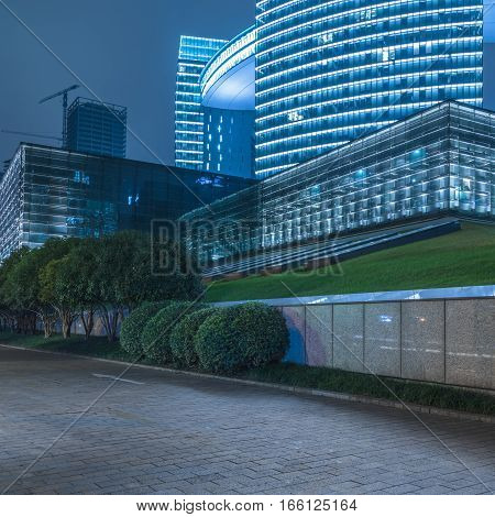 town square at night in Shenzhen,city of China.