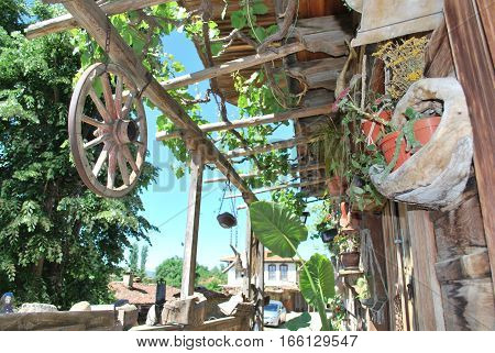 the porch of the old Bulgarian house