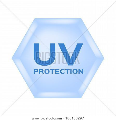 uv protection icon and vector on white background