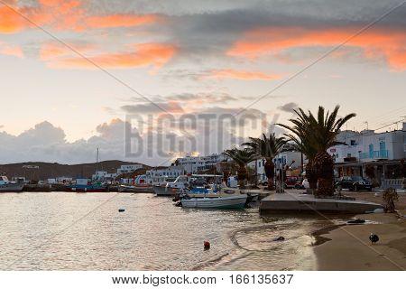 LIVADI, GREECE - JANUARY 12, 2017: Serifos island in Cyclades island group in Aegean sea, Greece on January 12, 2017.