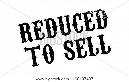 Reduced To Sell rubber stamp. Grunge design with dust scratches. Effects can be easily removed for a clean, crisp look. Color is easily changed.